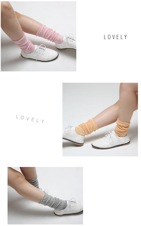 Loose Misty Long Fashion Socks Korean Japanese Style Women Retro Slouch Cute | eBay