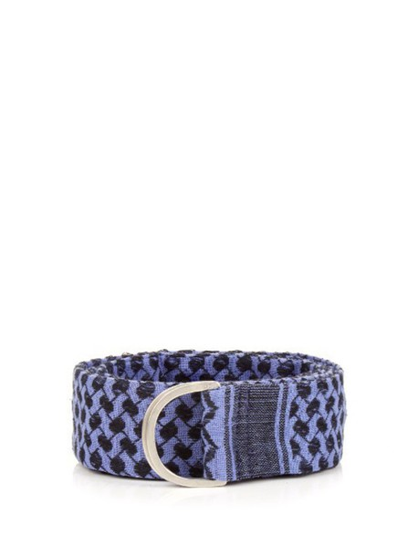 CECILIE COPENHAGEN jacquard belt cotton dark blue dark blue