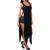 Asymmetrical High Split Shirt Dress | Emprada