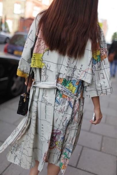 jacket, world, map, coat, cardigan, fashion, streetstyle ...