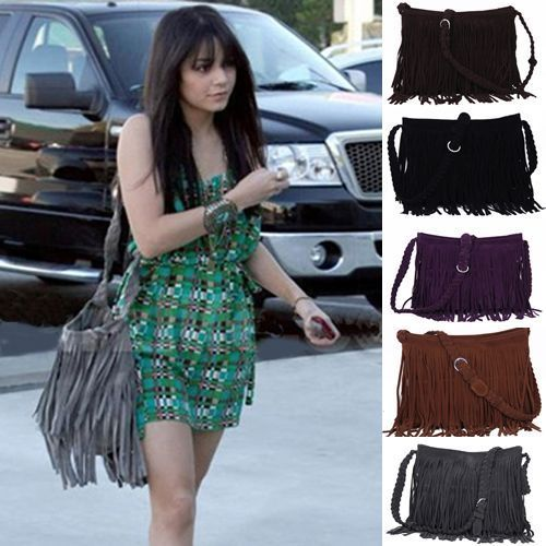 Fashion Women Celebrity Tassel Fringe Shoulder Handbag Cross Body Bag 6 Color | eBay