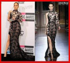YZ Jennifer Lopez's Black Lace Zuhair Murad Evening Dress  - Dresses