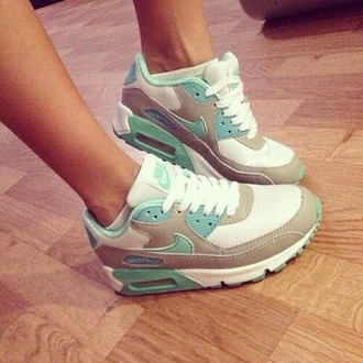 tennis shoes nike air nike running shoes teal and white