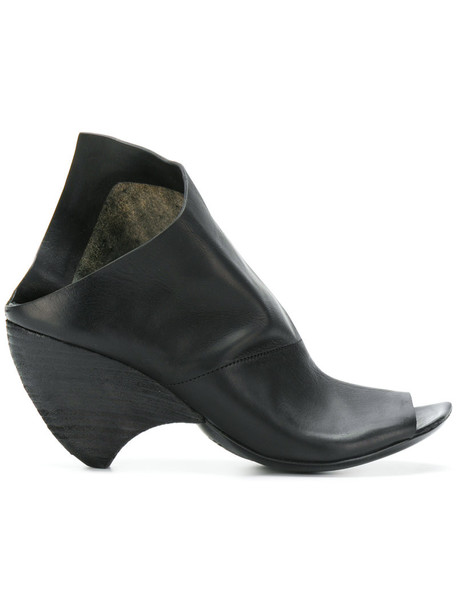 Marsèll women mules leather black shoes