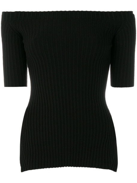 Helmut Lang top bandeau top women spandex black silk