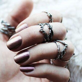 jewels shop dixi wishbone sterling silver ring boho bohemian grunge goth