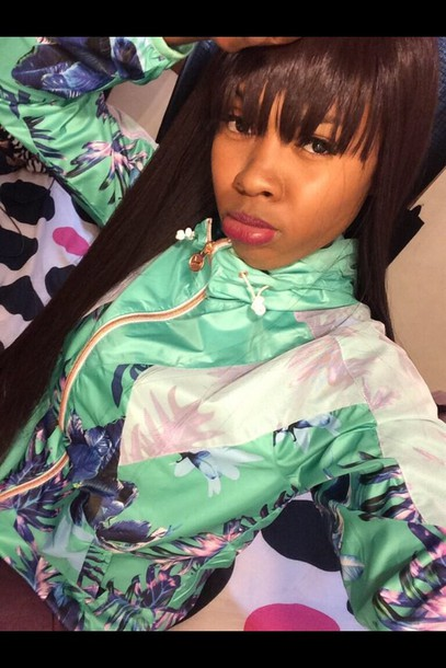 swag dope selfie tropical windbreaker coat jacket
