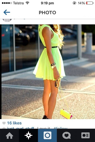 dress cute yellow dress