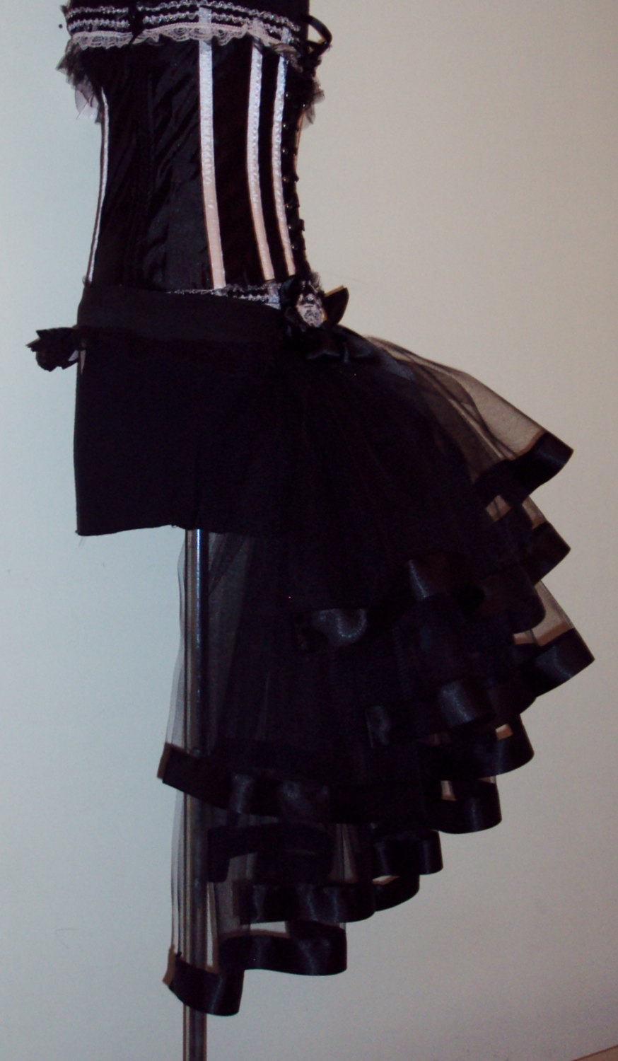 Black burlesque bustle belt all sizes available