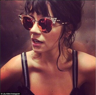 sunglasses fendi lilly allen eyewear