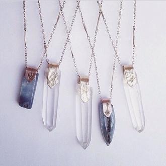 jewels necklace crystal quartz quartz