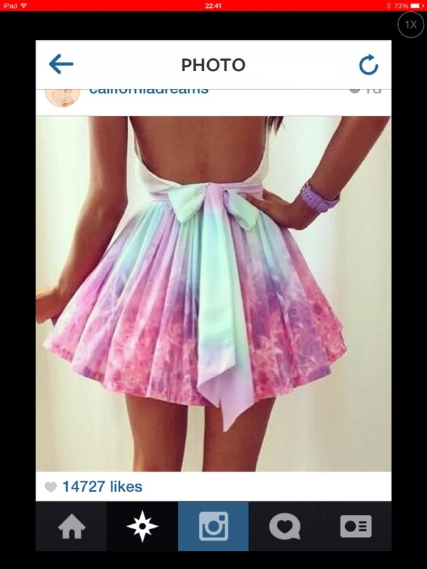 dress prom dress cute rainbow colorful pastel short prom dress skirt