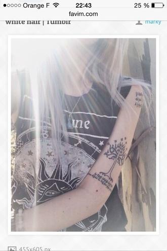 t-shirt black t-shirt grunge t-shirt grunge tattoo