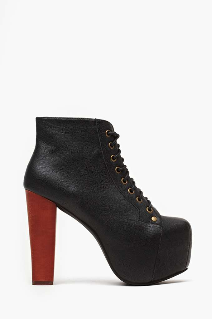 Jeffrey Campbell Lita Platform Boot - Black  in  Shoes Litas at Nasty Gal