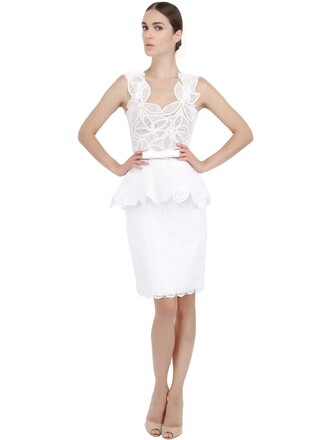 dress tulle dress lace cotton white