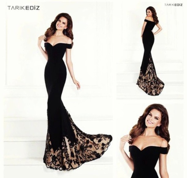 dress any color black dress black gown long prom dress long dress gorgeous dress amazing dress classy classy dress lady dress black lace dress prom dress