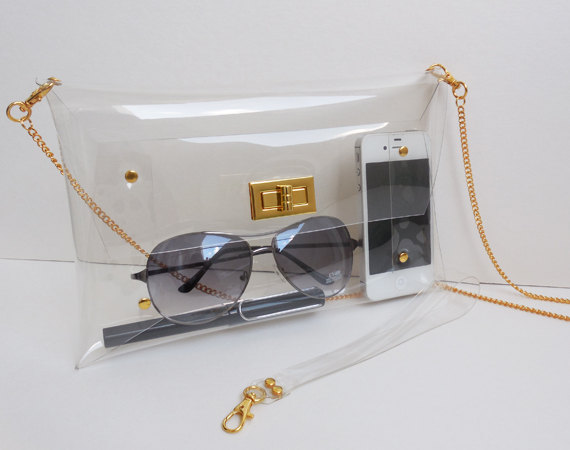 Medium Classic Transparent Clear Clutch Bag with by 9September
