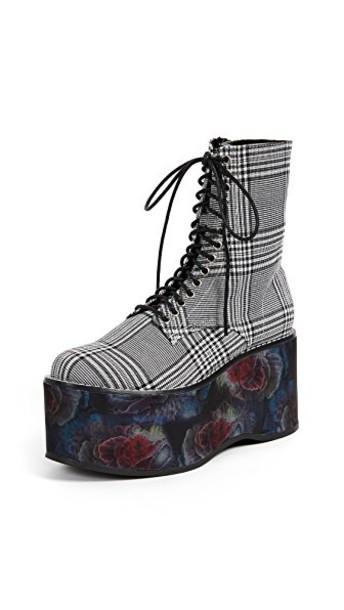 Jeffrey Campbell combat boots white black shoes
