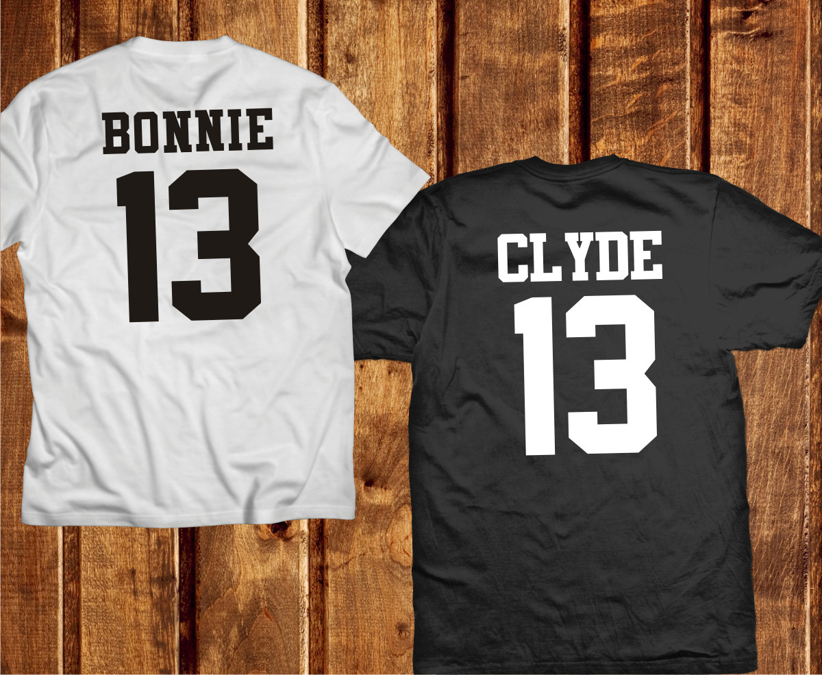 bonnie and clyde shirts couples shirts bonnie and clyde. Black Bedroom Furniture Sets. Home Design Ideas