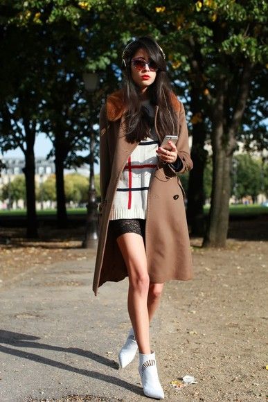 chic muse shorts sunglasses shoes sweater coat
