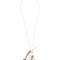 Crystal-embellished leather flower necklace