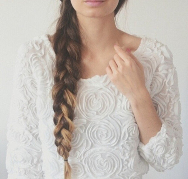 sweater white lace flowers shirt swaeter vintage girly blouse