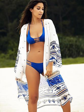 swimwear dresssfo dressfo blue cover up summer trendy fashion boho style cool