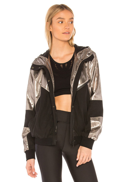 jacket metallic silver
