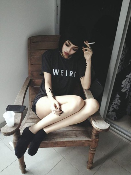 t-shirt black shirt black t-shirt black weird goth black and white