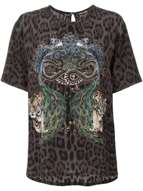 Roberto Cavalli t-shirt shirt printed t-shirt t-shirt women silk top