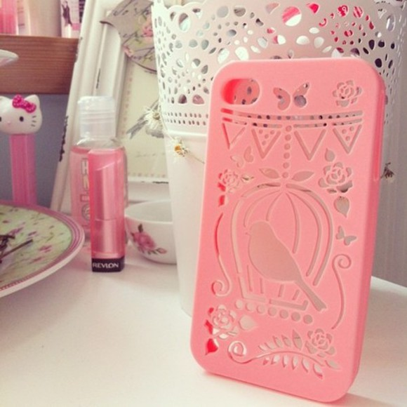 jewels iphone cover phone case pink iphone 4 iphone 5 iphone case smartphone hipster girly pretty in pink