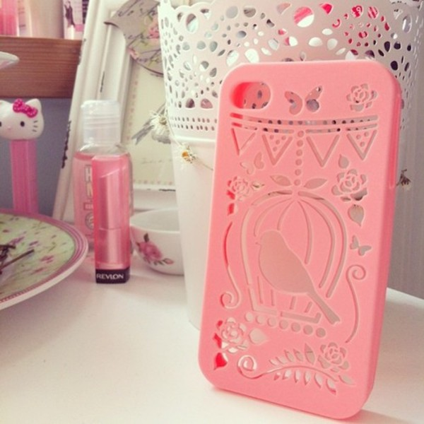jewels phone cover pink iphone 4 case iphone 5 case iphone cover iphone case phone smartphone hipster girly pretty in pink