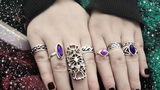 jewels fashion gemstone purple ring jewelry girly metal silver ring clothes