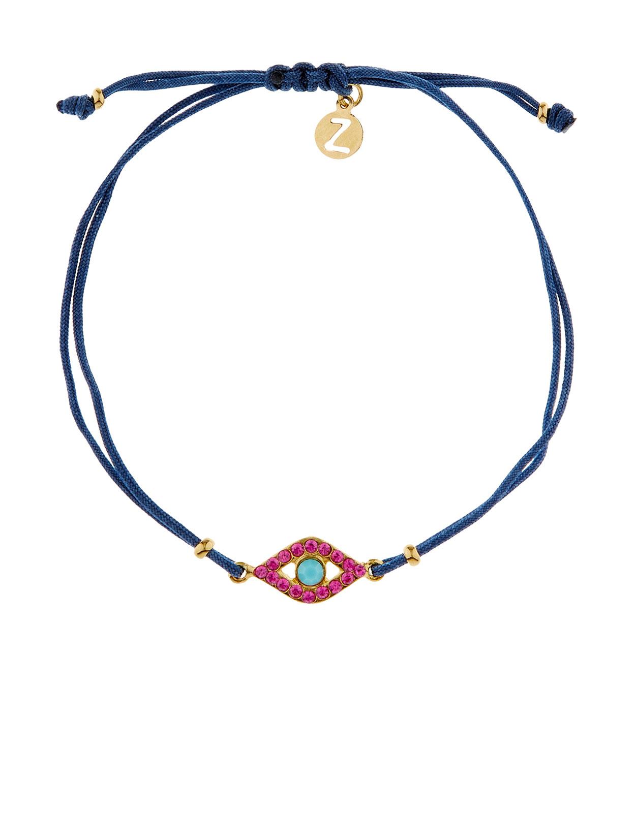 Evil Eye Cord Bracelet | Clear | Accessorize