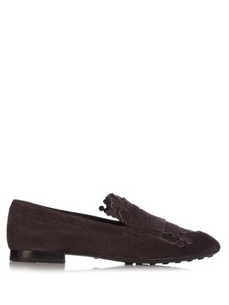 loafers suede dark brown shoes