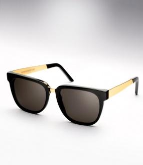 Super people black & gold metal m&a sunglasses