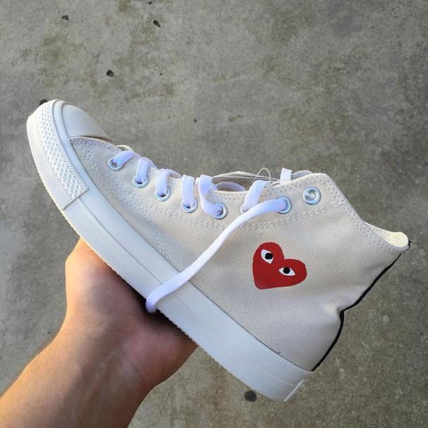 2b6bff6980b2 shoes comme des garcons heart converse