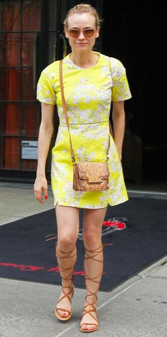 bag dress purse diane kruger sandals gladiators shoes
