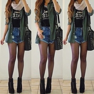 shirt clothes coat shorts jewels t-shirt shoes sexy blouse bag jacket green army green jacket hipster hipster.