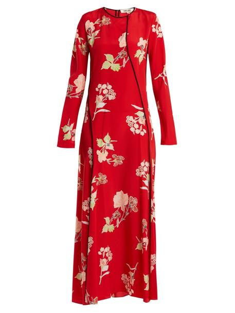 Diane Von Furstenberg dress silk print red