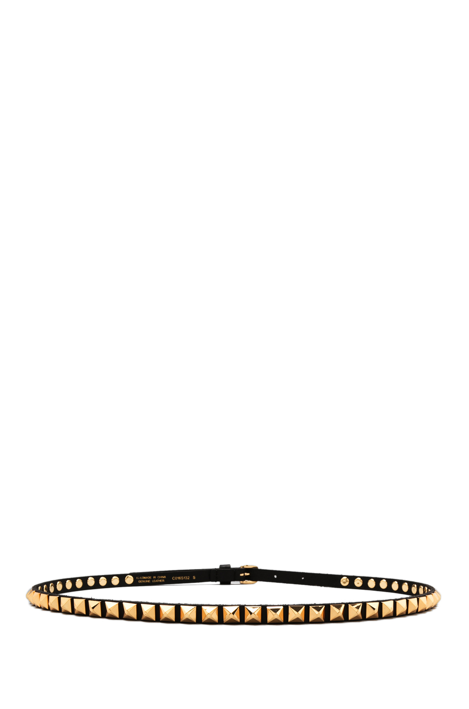 Linea Pelle Ricky Skinny w/ Faceted Pyramid Studs in Black from REVOLVEclothing.com