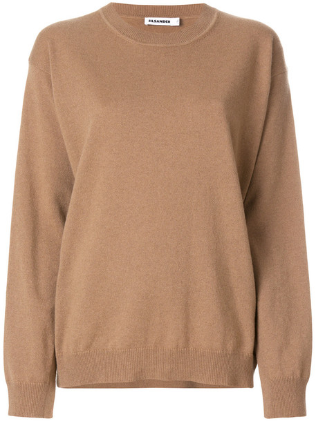 Jil Sander jumper women spandex nude sweater