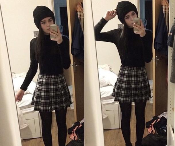 skirt tartan cute