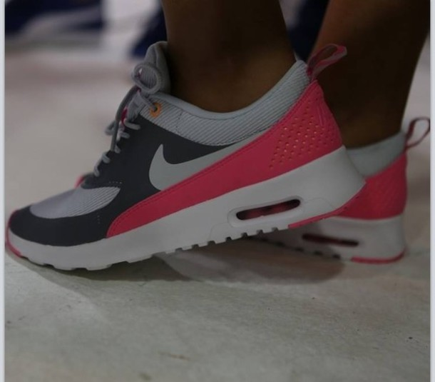hot sale online 94b2c d6e79 shoes nike trainers pink grey nike air max thea