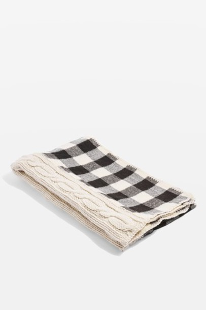 Topshop scarf knit cream