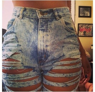 jeans ripped jeans denim acid wash high waisted sexy cut up jeans high waisted ripped jeans bleached tumblr skinny jeans high waisted jeans blue high waisted destroyed jeans blue ripped cut high wasited cute