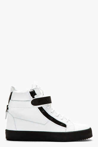 white wedge sneakers shoes leather matte birel menswear