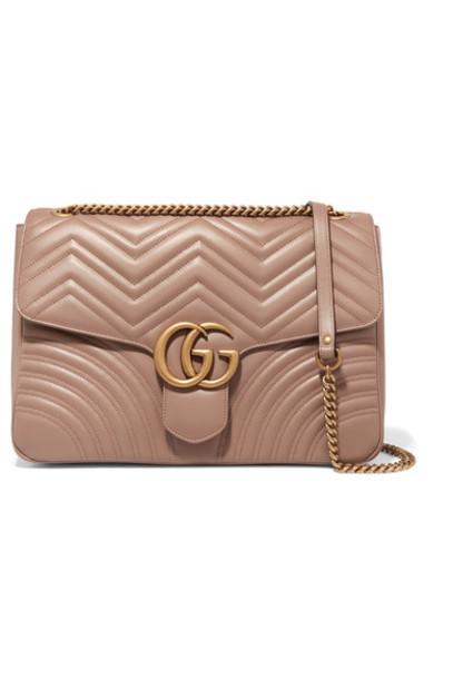 gucci quilted bag shoulder bag leather beige