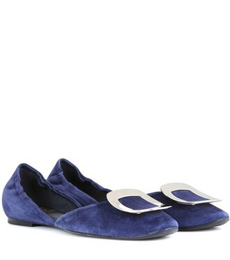 suede blue shoes
