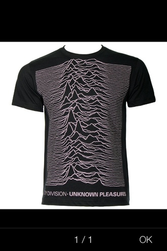 t-shirt mens t-shirt menswear black joy division unknown pleasures purple